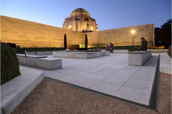 Drainage Grates At War Memorial